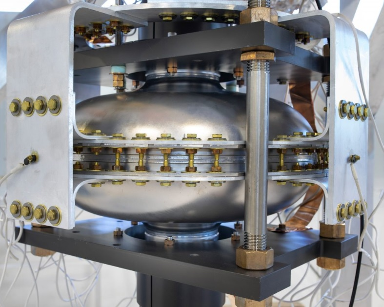 for-the-first-time-a-superconducting-radio-frequency-cavity-has-been-cooled-and-operated-using-cryogenic-refrigerators